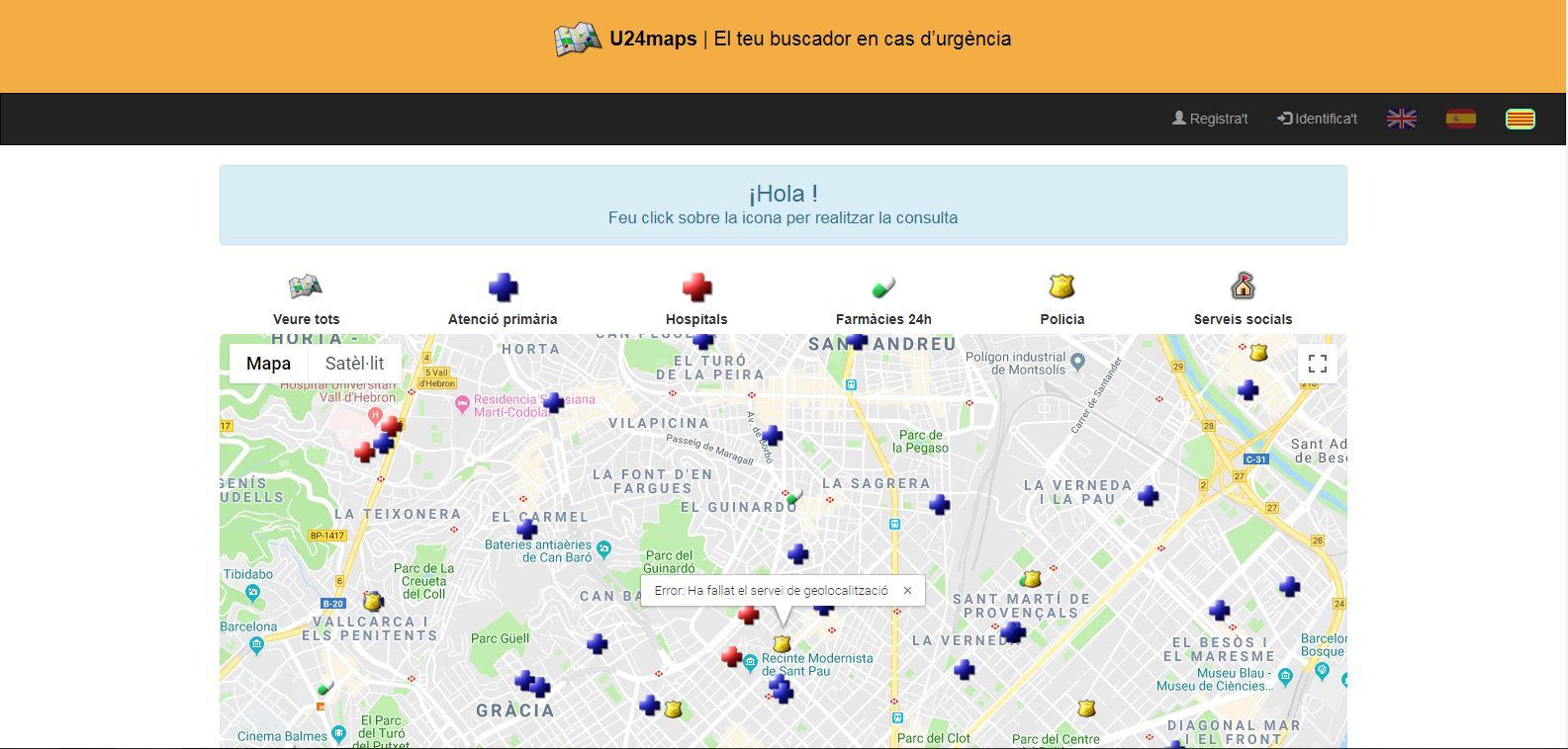 Dues infermeres de Barcelona dissenyen un buscador interactiu per localitzar serveis d'urgència
