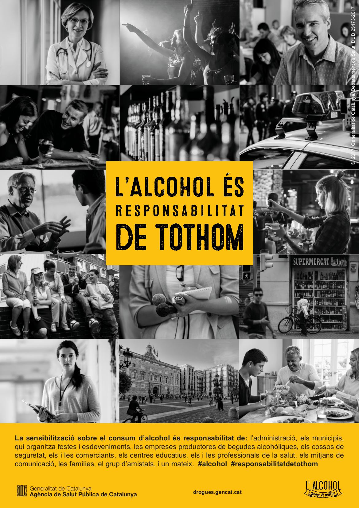 Salut apel·la a la responsabilitat de tota la societat en prevenir sobre els riscos del consum d'alcohol