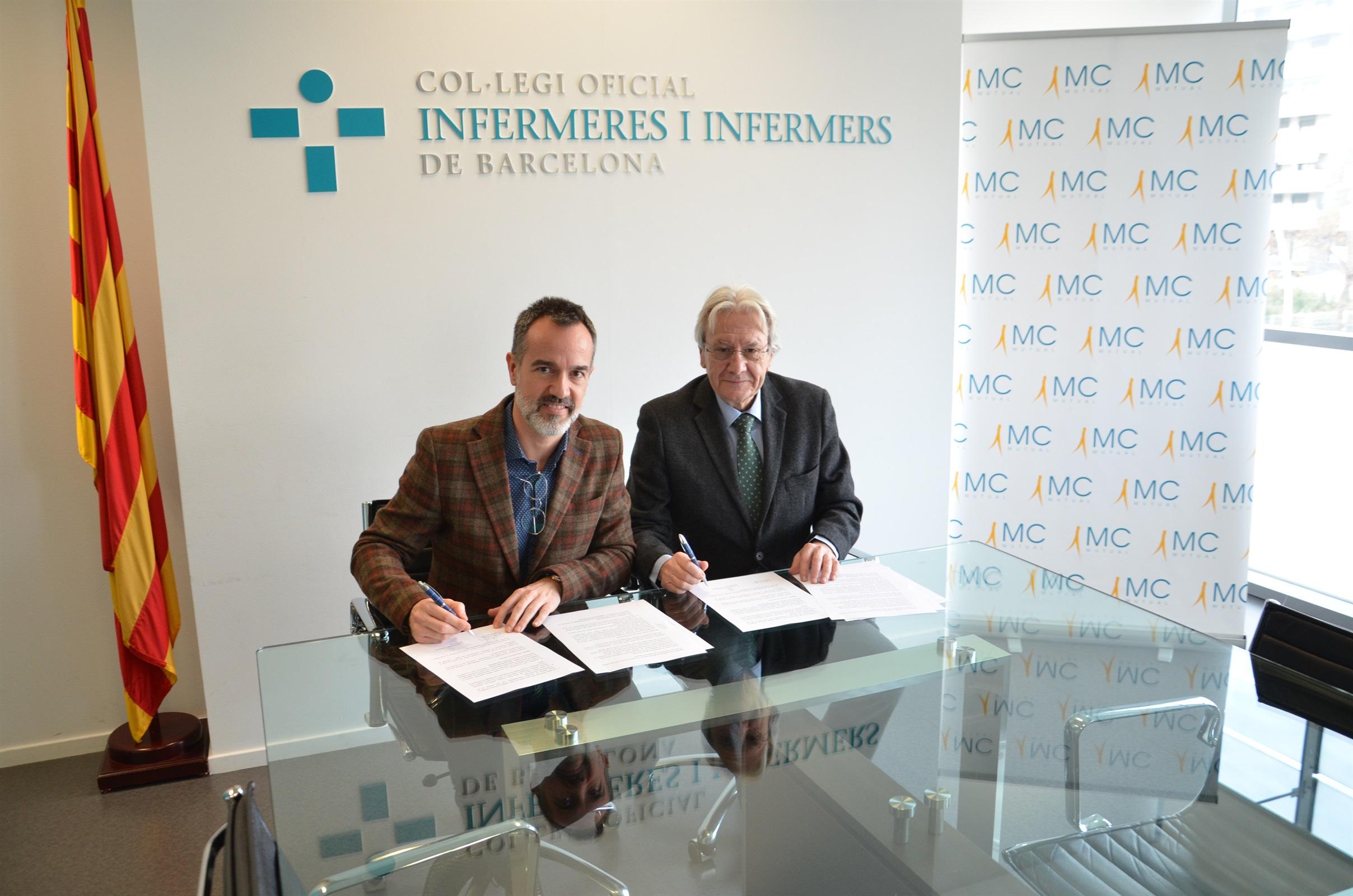 El COIB i MC MUTUAL signen un acord per intercanviar coneixement en l'àmbit sanitari i assistencial