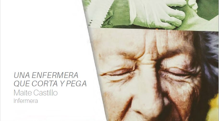 Maite Castillo reflexiona sobre la imatge infermera en una exposició de collages