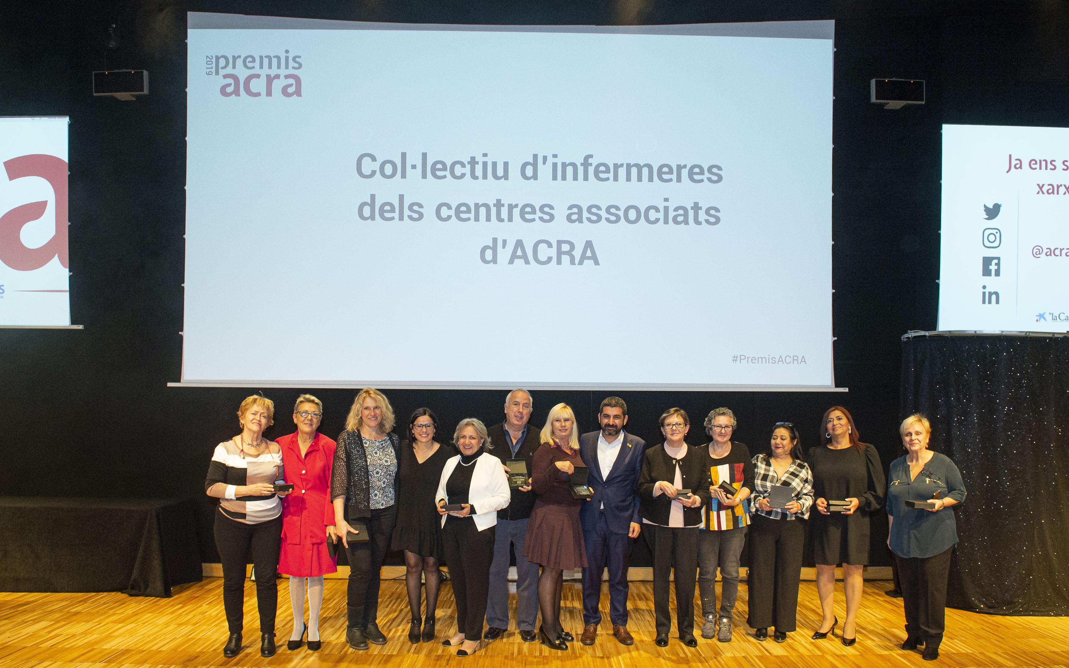 Les infermeres dels centres associats d'ACRA, reconegudes amb el Premi ACRA a la millor trajectòria i aportació professional