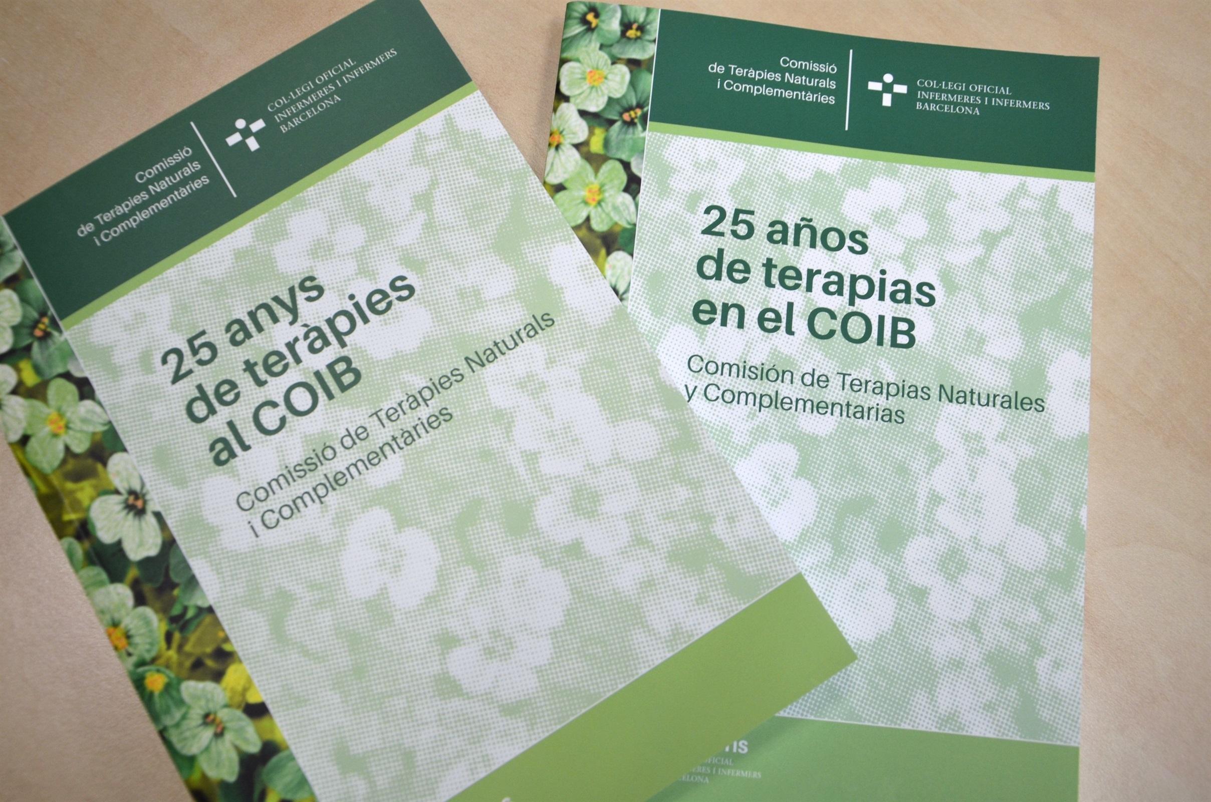 La Comissió de Teràpies Naturals i Complementàries recull els seus 25 anys d'història en un llibre