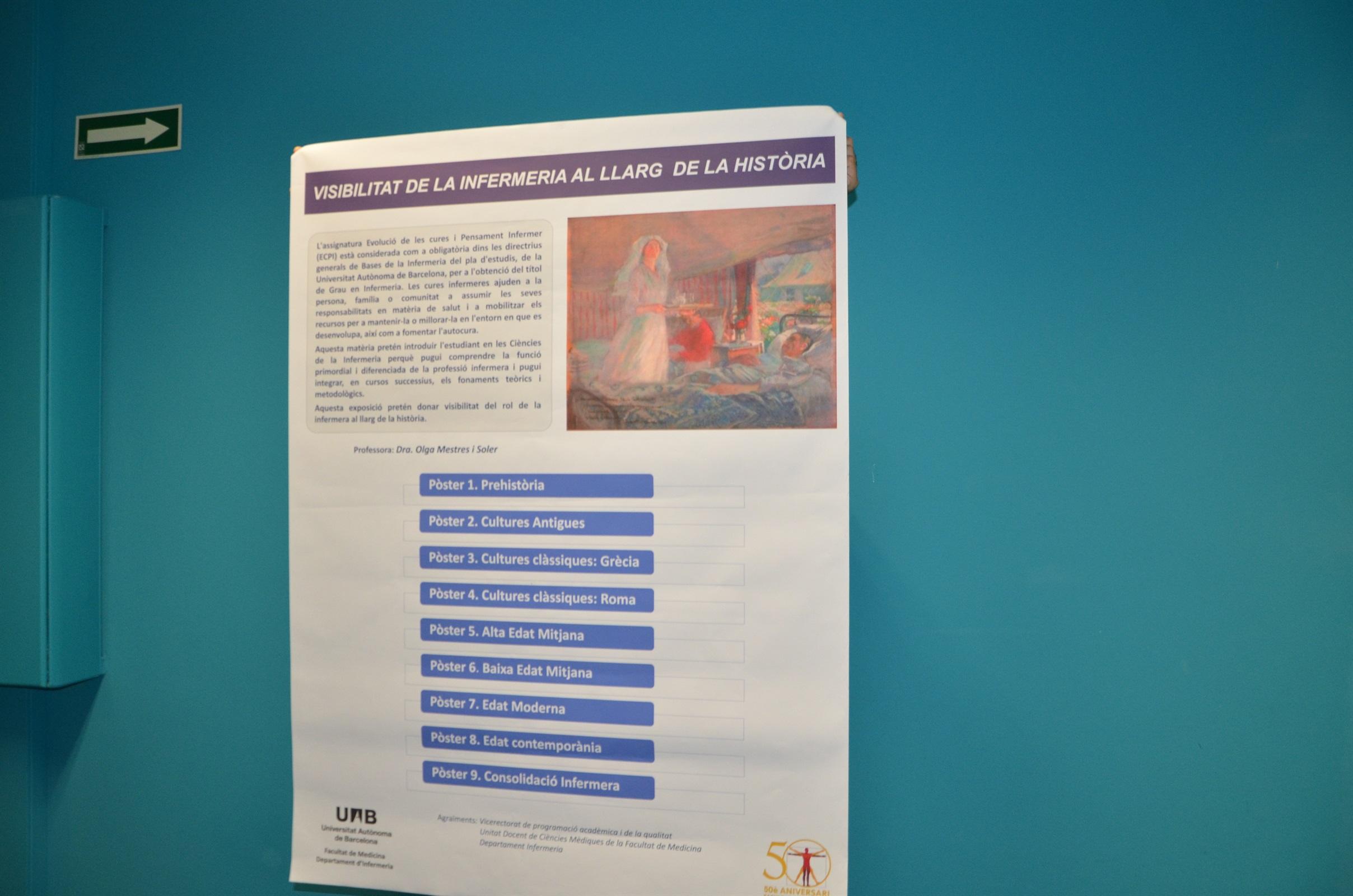 La Biblioteca del COIB acull una nova exposició sobre el rol de la infermera al llarg de la història