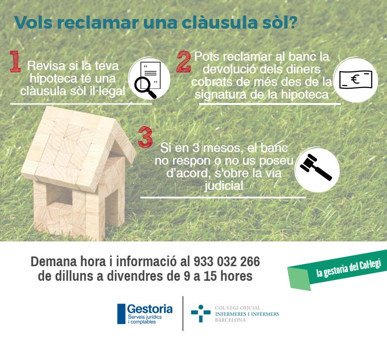 La teva hipoteca té clàusula sòl? Reclama la devolució amb el COIB Serveis Jurídics i Comptables