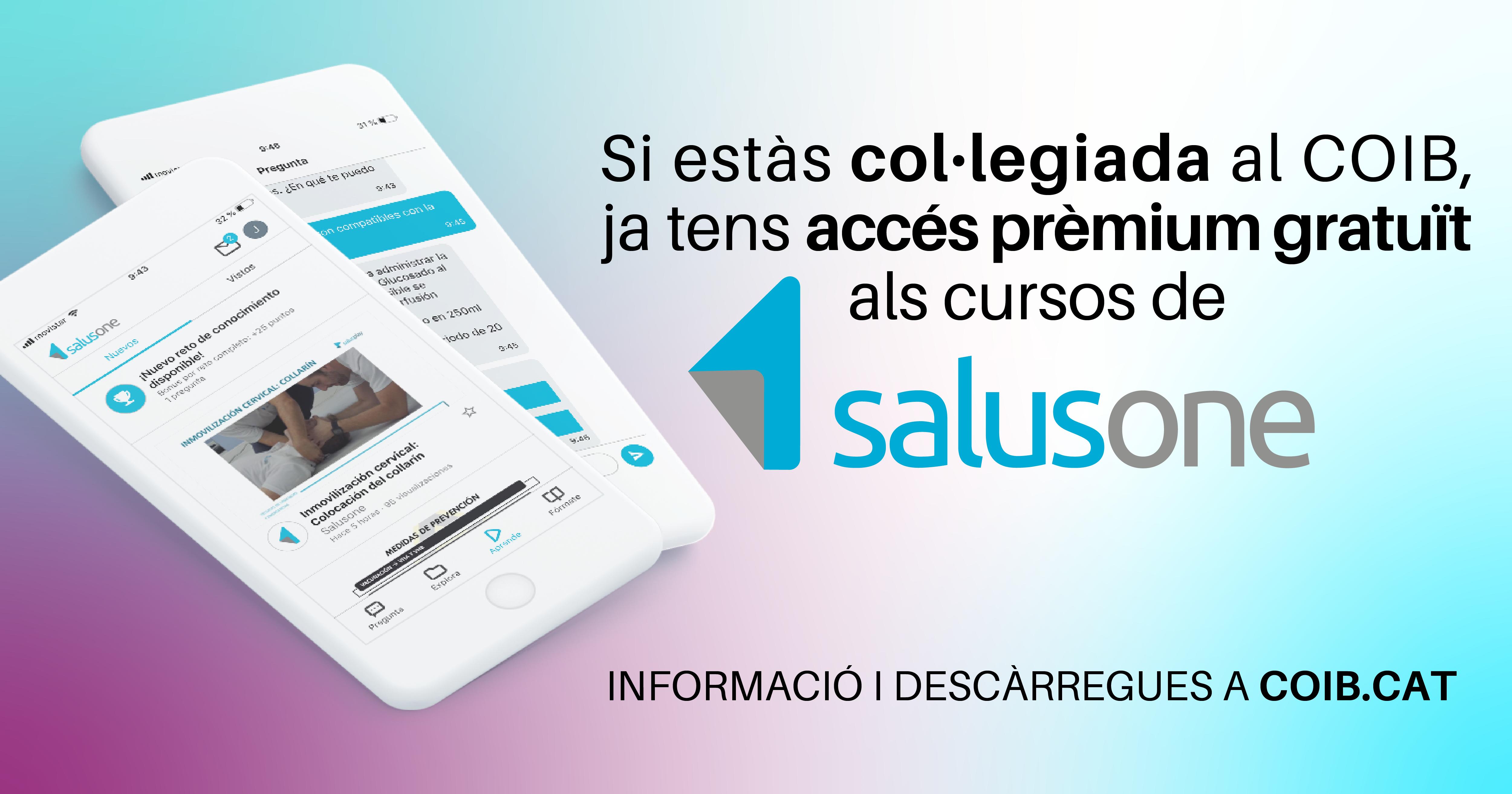 El COIB ofereix accés gratuït per a les col·legiades a la formació en línia de SalusOne Premium
