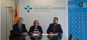 El COIB, la Fundació Infermeria i societat i el Banc de Sabadell renoven el seu conveni per oferir més avantatges per a les col·legiades i col·legiats