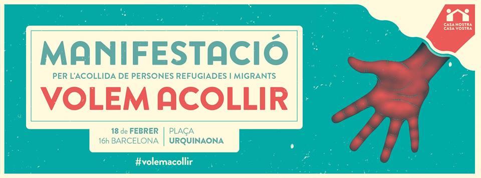 Concert solidari i manifestació a favor de l'acollida de persones refugiades i migrants
