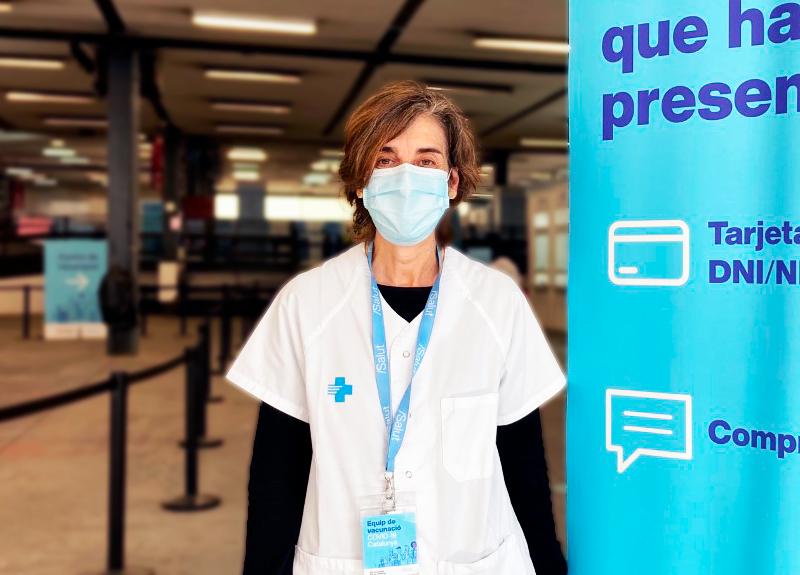 """Lourdes Carrés: """"Al punt de vacunació de la Fira de Barcelona treballàvem amb la convicció de poder immunitzar la major quantitat de persones possible"""""""